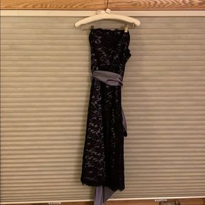 Dessy black lace cocktail dress